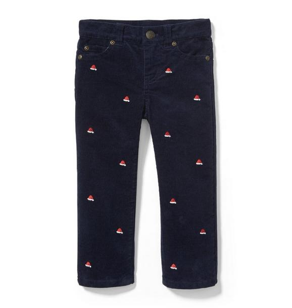 Santa Hat Stretch Corduroy Pant