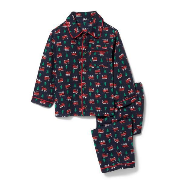 Train and Tree Pajama Set