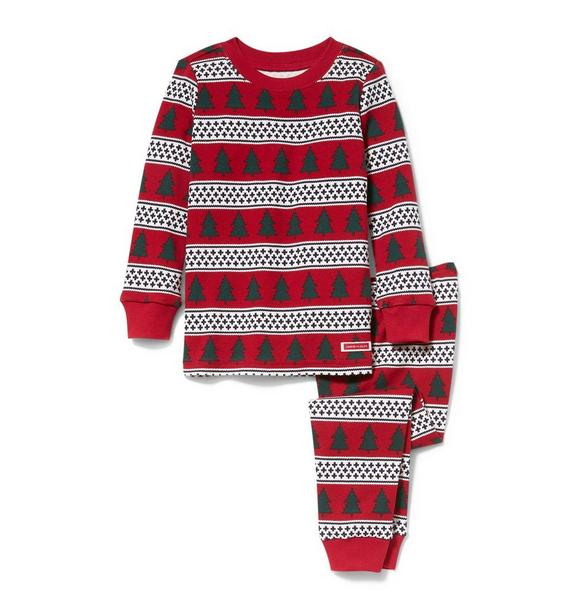 Tree and Fair Isle Pajama Set
