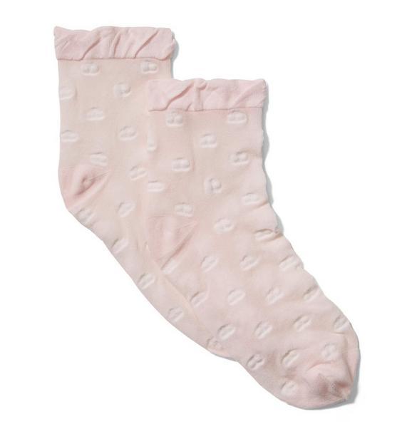 Sheer Flower Sock