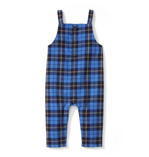 Plaid Twill Overall