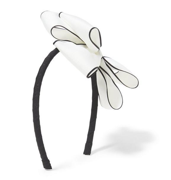 Contrast Trim Bow Headband