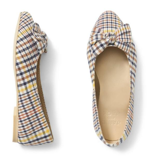 Plaid Bow Flat