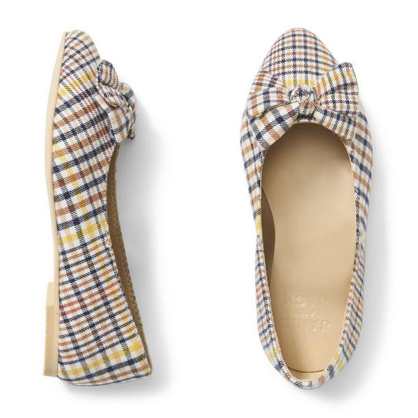 Plaid Bow Flat by Janie And Jack
