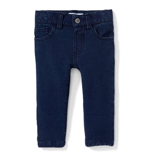 Stretch Knit Jean In Deep Sea Wash
