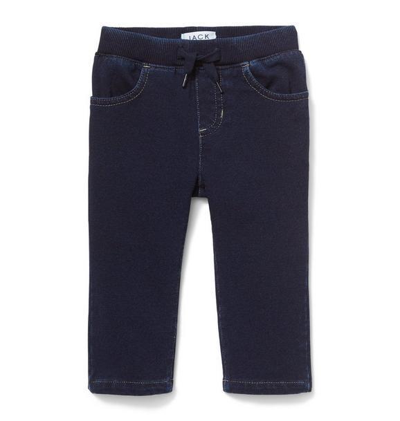 Stretch Knit Jean In Midnight Star Wash