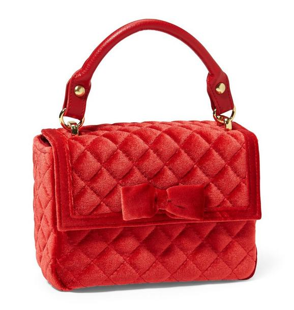 Quilted Velvet Purse