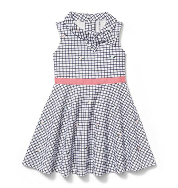 Checked Floral Dress