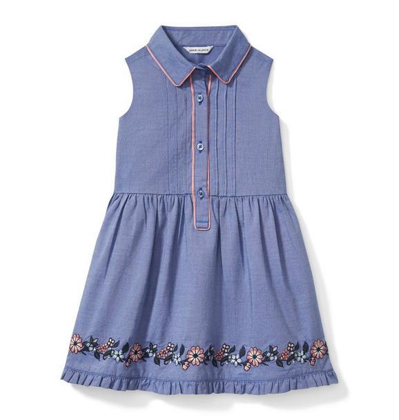 Embroidered Floral Border Dress