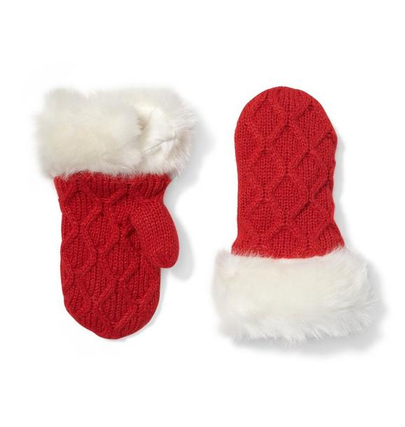 Faux Fur Sweater Mittens