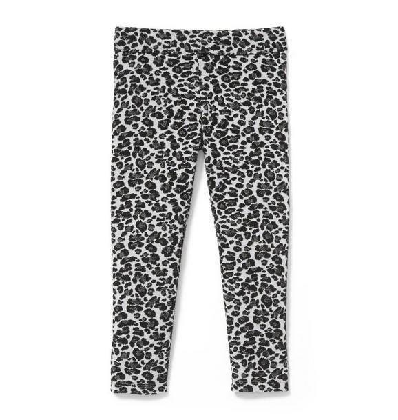 Leopard Jacquard Pant