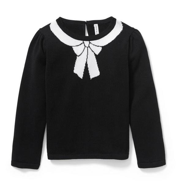 Faux Bow Sweater