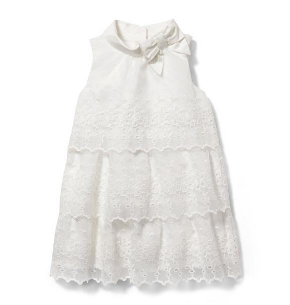 Eyelet Tiered Dress