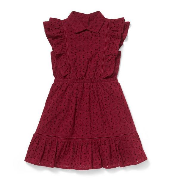 Eyelet Ruffle Dress