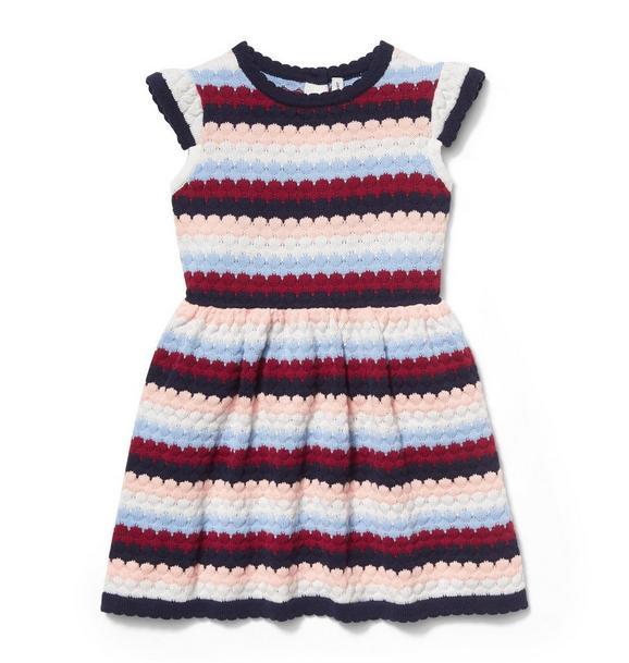 Striped Dot Sweater Dress