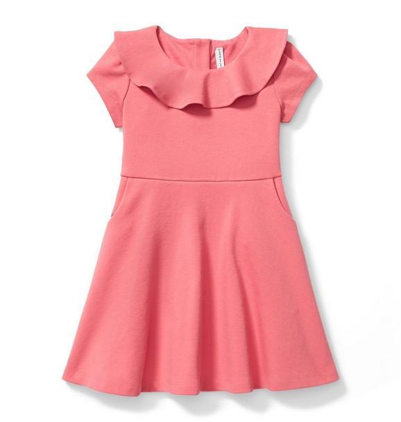 Ruffle Collar Ponte Dress