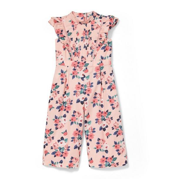 Floral Flutter Sleeve Jumpsuit