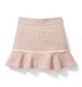 Ribbon Bouclé Skirt