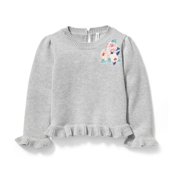 Embroidered Floral Sweater by Janie And Jack