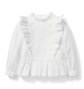 Pleated Ruffle Peplum Top