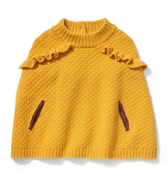 Ruffle Trim Sweater Cape
