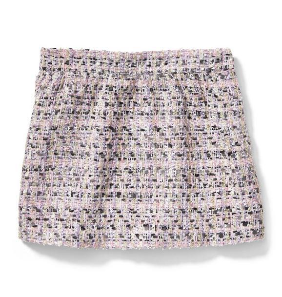 Shimmer Bouclé Skirt