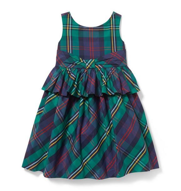 Peplum Plaid Dress