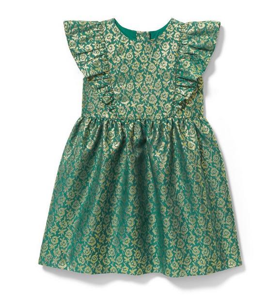 Shimmer Floral Jacquard Dress