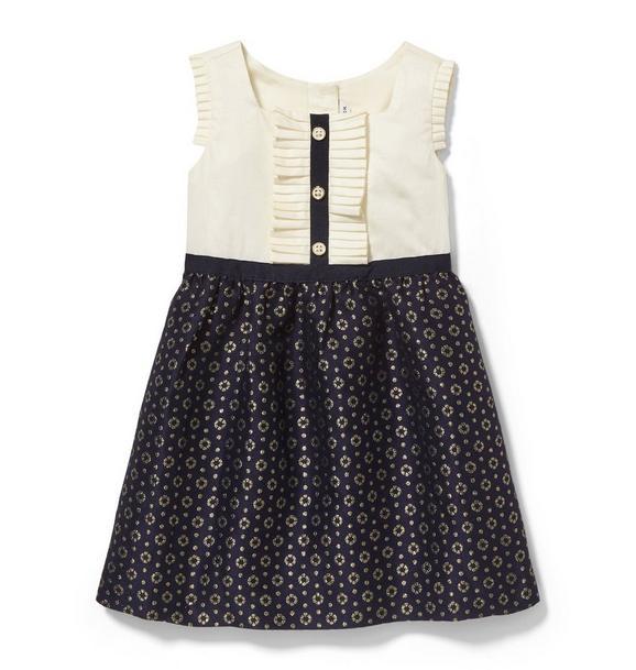 Shimmer Floral Skirt Dress