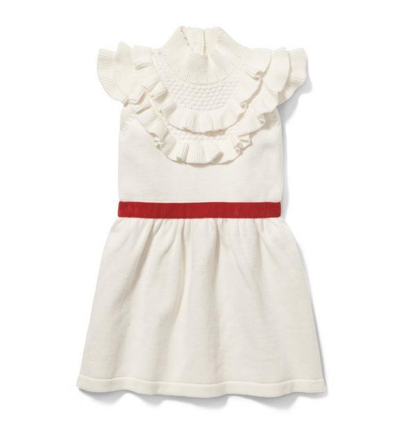 Velvet Belt Sweater Dress