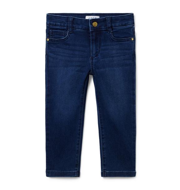 Skinny Jean In Night Sky Wash