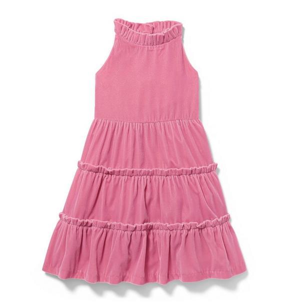 Velvet Tiered Dress