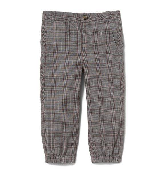 Plaid Twill Jogger
