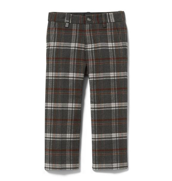 Plaid Twill Pant