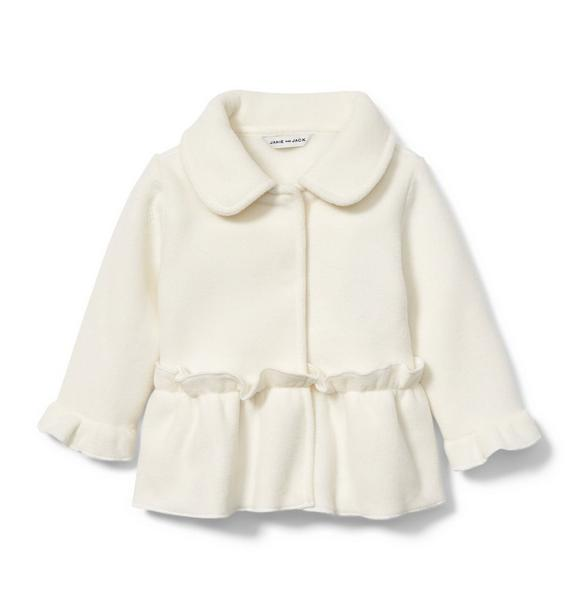 Fleece Peplum Jacket