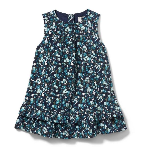 Floral Corduroy Dress