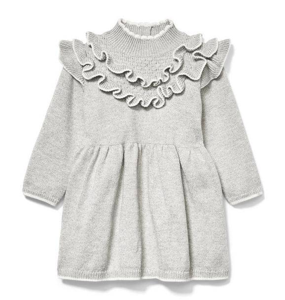 Ruffle Lurex Sweater Dress
