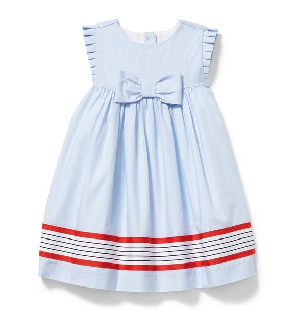 Striped Border Dress