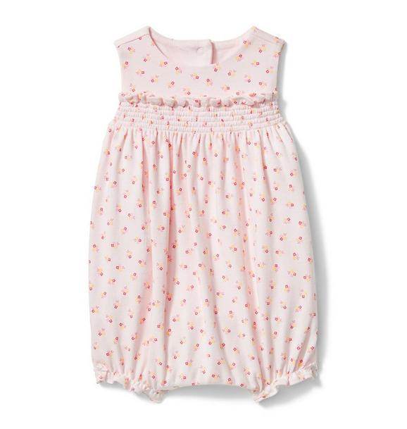 Smocked Floral 1-Piece