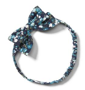 Floral Corduroy Bow Headband