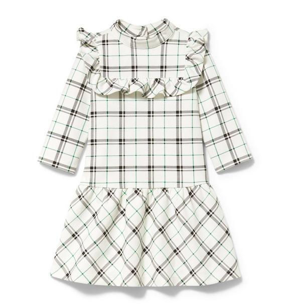 Plaid Ponte Dropwaist Dress