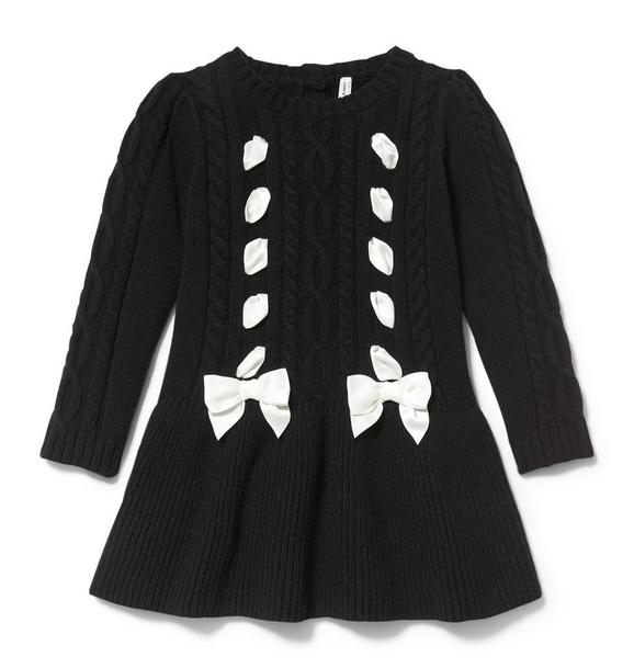Bow Dropwaist Sweater Dress