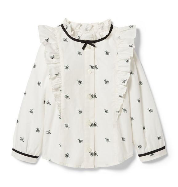 Floral Ruffle Shirt