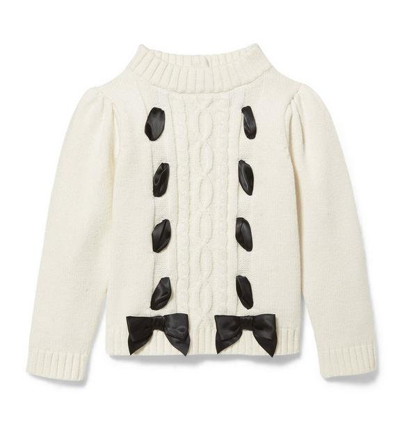 Bow Cable Knit Sweater
