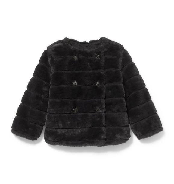 Channel Faux Fur Short Coat