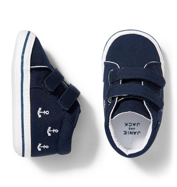 Anchor Sneaker Crib Shoe