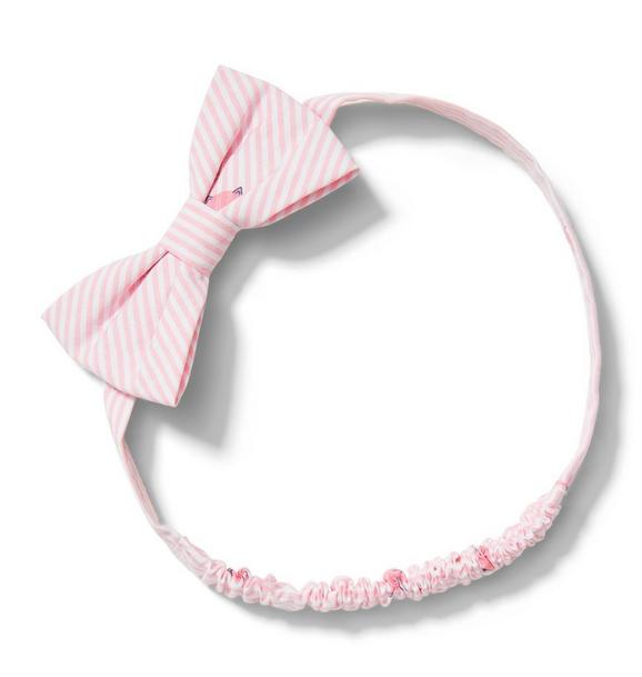 Kitty Stripe Soft Bow Headband