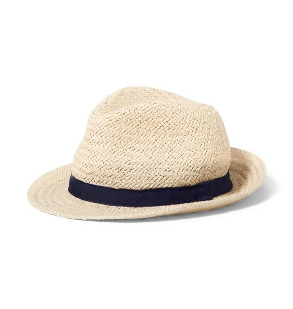 Navy Trim Fedora