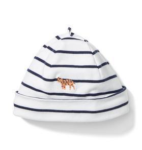 Tiger Stripe Knot Beanie