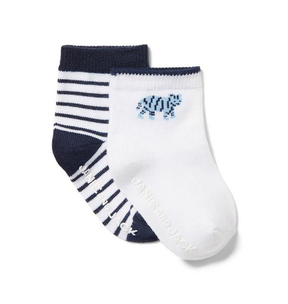 Stripe and Tiger Sock 2-Pack